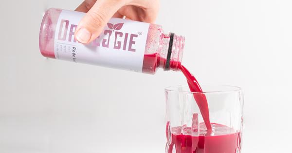 Groentesap van Dr.Veggie in een glas